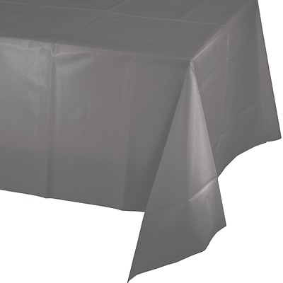 Creative Converting Glamour Gray Plastic Tablecloth (339631)