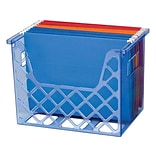 OfficeMate Blue Glacier Holder, Transparent Blue (23221)