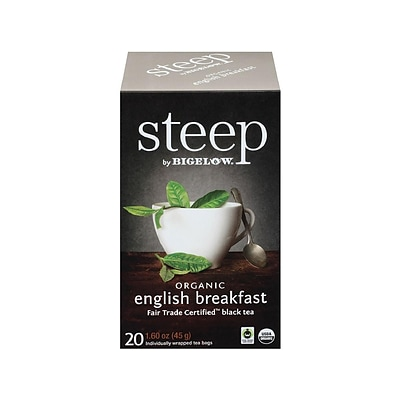 Steep English Breakfast Tea Bags, 20/Box (17701)