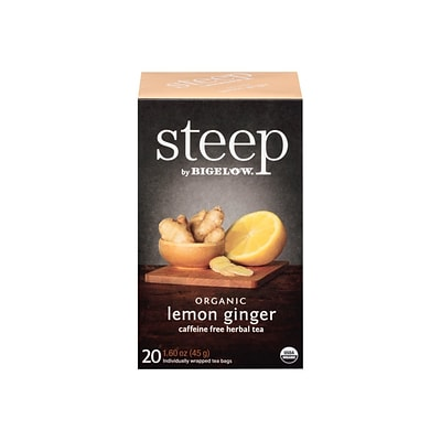 Steep Herbal Tea Bags, 20/Box (17704)