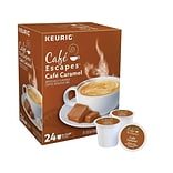 Cafe Escapes Café Caramel Coffee, Keurig® K-Cup® Pods, Light Roast, 24/Box (GMT6813)