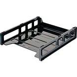 OfficeMate Front Loading Letter Tray, Black (21032)