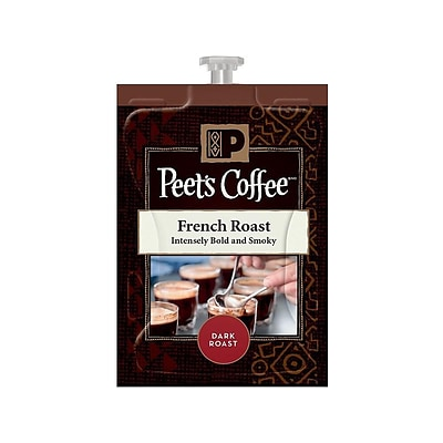 Peets Coffee Flavia French Roast Filter Packs Coffee, Dark Roast, 72/Carton (MDR23301)