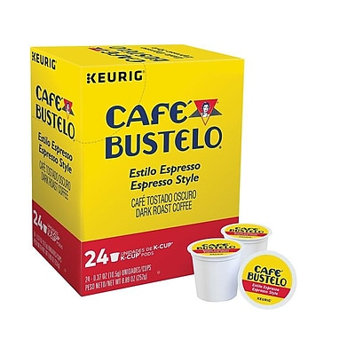 Cafe Bustelo Coffee, Keurig K-Cup Pods, Espresso, 24/Box (6106)
