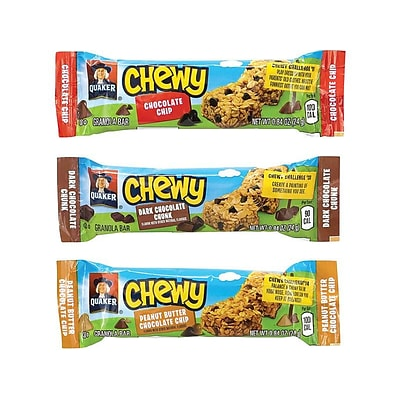 Quaker Chewy Bars, Variety, 0.84 oz., 60/Box (220-00434)