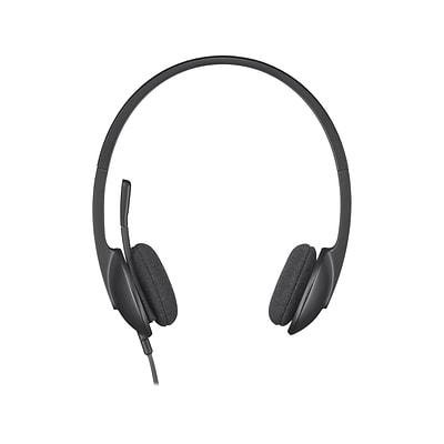 Logitech H340 Computer Headset, Over-the-Head, Black (981-000507)