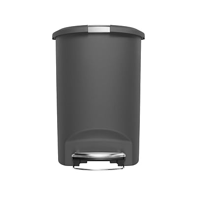 simplehuman Indoor Step Trash Can, Gray Plastic, 13 Gal. (CW1357)