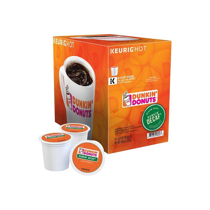 Dunkin' Donuts Dunkin' Decaf Coffee, Keurig® K Cup® Pods, Medium Roast, 96Carton (400846)