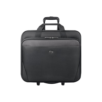 Solo Midtown Empire Laptop Rolling Briefcase, Black Polyester (CLS910-4)