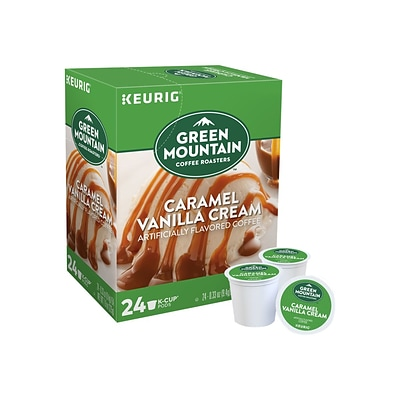 Green Mountain Caramel Vanilla Cream Coffee, Keurig® K-Cup® Pods, Light Roast, 24/Box (6700)