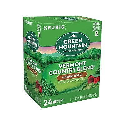 Green Mountain Vermont Country Blend Coffee, Keurig® K-Cup® Pods, Medium Roast, 24/Box (6602)