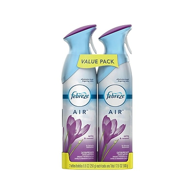 Febreze AIR Handheld Aerosols, Spring & Renewal, 8.8 oz., 2/Pack (97805)