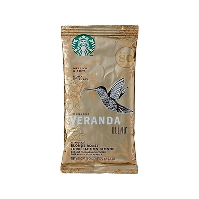 Starbucks Veranda Blend Ground Coffee, Blonde Roast, 18/Box (11020676)