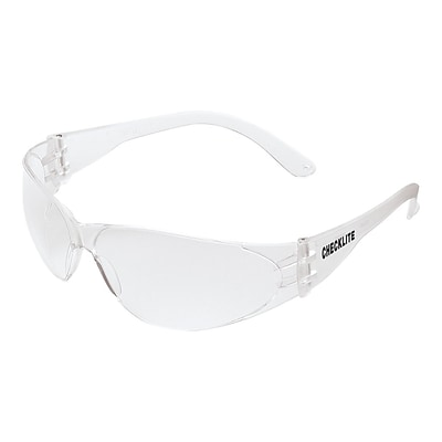 MCR Safety Checklite Polycarbonate Safety Glasses, Clear Lens, 12/Pack (CL110)