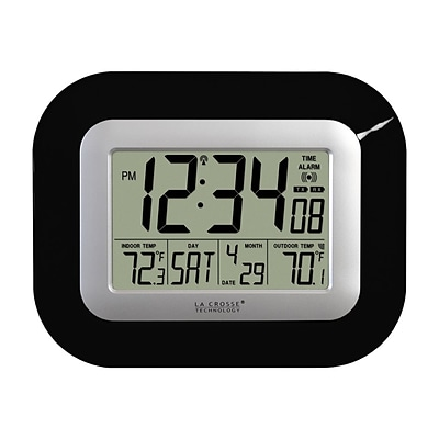 La Crosse Technology Atomic Wall/Table Clock, 7.1H x 8.9W x 1.2D (WS-8115U-B)