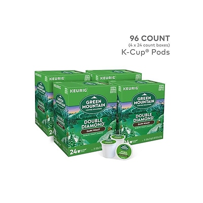 Green Mountain Double Diamond Coffee, Keurig® K-Cup® Pods, Dark Roast, 96/Carton (GMT4066CT)