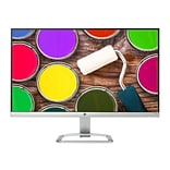 HP 24ea X6W26AA#ABA 23.8 LED Monitor, Natural Silver/Blizzard White