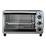 Black & Decker 6-Slice Toaster Oven, Stainless Steel and Black (TO1950SBD)