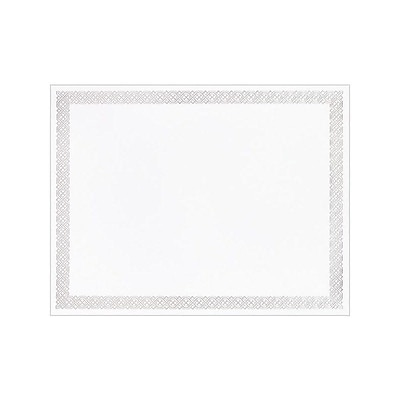 Masterpiece Studios 8.5 x 11 Certificates, Silver, 15/Pack