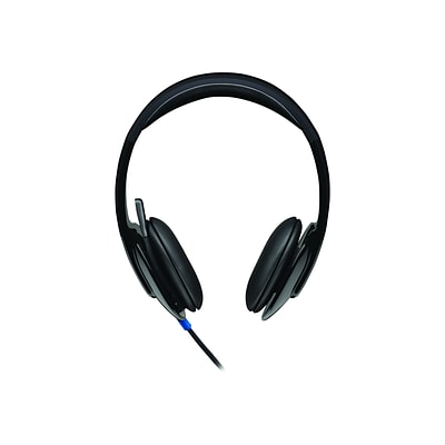 Logitech H540 Computer HD Headset, Over-the-Head, Black (981-000510)