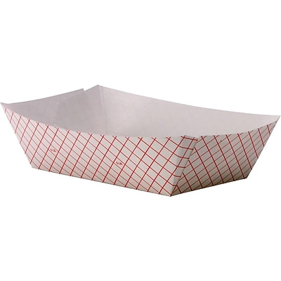 Dixie Kant Leek Polycoated Food Tray, 5 lb., Red Plaid, 500/Carton (RP500)