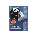 Avery Laser Media Labels, White Matte, 100 Disc and 200 Spine Labels/Pack (5698)