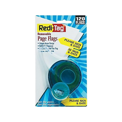 Redi-Tag Sign Here Flags, Yellow, 1.88 Wide, 120/Pack (81124)