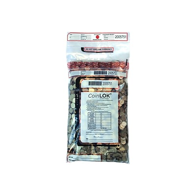 Control Papers CoinLOK Deposit Bags, Clear, 50/Pack (585100)