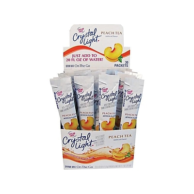Crystal Light On The Go Peach Tea Powder, 0.09 Oz., 30/Box (00797)