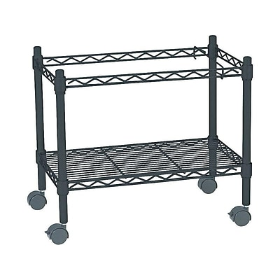 Safco 1-Shelf Metal File Cart, Black (5201BL)