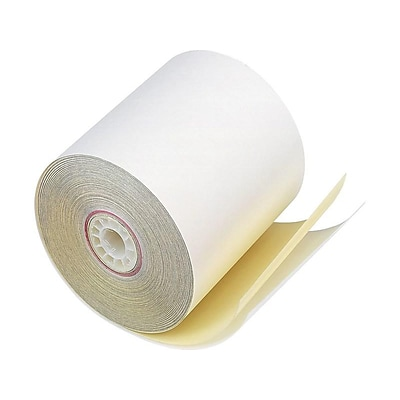 PM Company Perfection Carbonless Paper Rolls, 3 x 90, 50/Carton (07706)