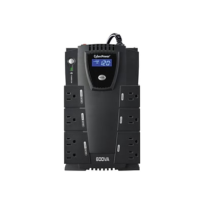 Cyberpower Intelligent LCD Standby UPS, Black (CP600LCD)