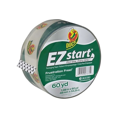Duck EZ-Start, Acrylic Packing Tape, 1.88 x 60 yds., Clear (CS-60C)