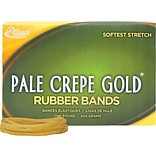 Alliance Pale Crepe Gold Multi-Purpose Rubber Bands, #33, 1 lb. Box, 970/Box (20335)