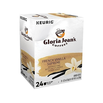 Gloria Jeans French Vanilla Supreme Coffee, Keurig K-Cup Pods, Medium Roast, 24/Box (60051-046)