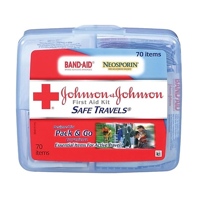Johnson & Johnson Safe Travels 70 pc. First Aid Kit (8274)