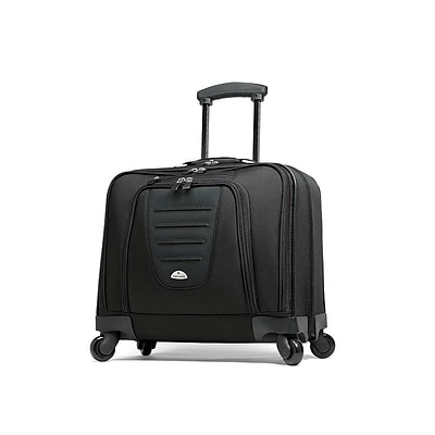 Samsonite Spinner Mobile Office Laptop Rolling Briefcase, Black Nylon (10392-1041)