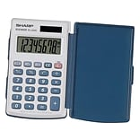 Sharp Elsi Mate EL-243SB 8-Digit Pocket Calculator, Gray/Blue