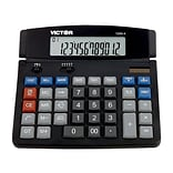 Victor Professional 1200-4 12-Digit Desktop Calculator, Black