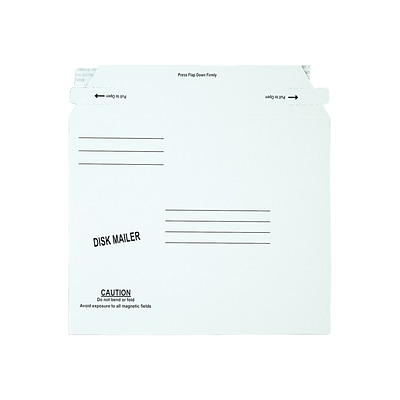 6.06 x 7.5 Peel & Seal Fiberboard Mailers, CD/DVD, 100/Carton (QUA64117)