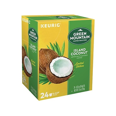Green Mountain Coffee Roasters Island Coconut Coffee, Keurig® K-Cup® Pods, Light Roast, 24/Box (6720)