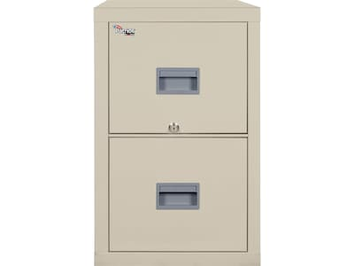"FireKing Patriot 2-Drawer Vertical File Cabinet, Fire Resistant, Letter, Beige, 31.56""D (2P1831-CPA)"
