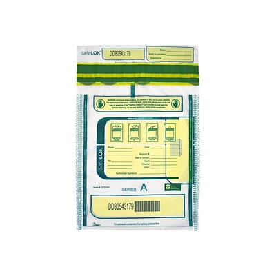 Control Group SafeLOK Series A Deposit Bag, Clear 100/Pack (585087)