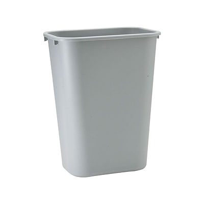 Rubbermaid Indoor Trash Can w/ No Lid, Gray Plastic, 10.25 Gal. (FG295700GRAY)