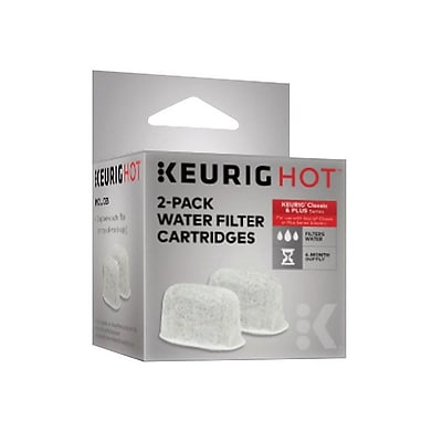 Keurig White Charcoal Water Filter Cartidges, 2/Pack (5084)