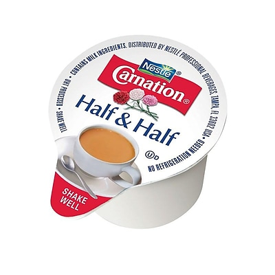 Carnation Half and Half Liquid Creamer, 0.3 Oz., 360/Carton (18894)