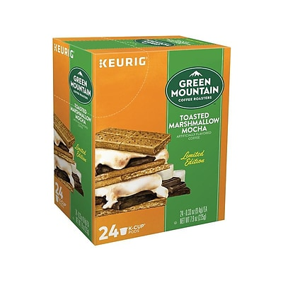 Green Mountain Coffee Roasters Toasted Marshmallow Mocha Coffee, Keurig® K-Cup® Pods, Light Roast, 24/Box (35807)
