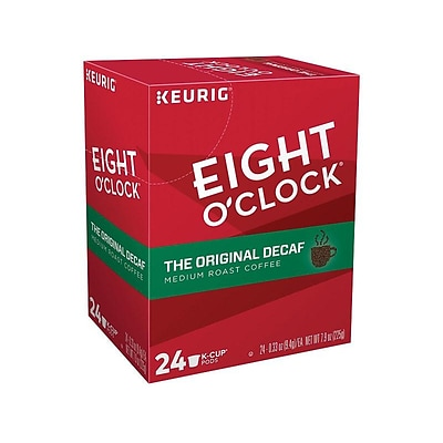 Eight OClock Original Blend Decaf Coffee, Keurig® K-Cup® Pods, Medium Roast, 24/Box (06425)