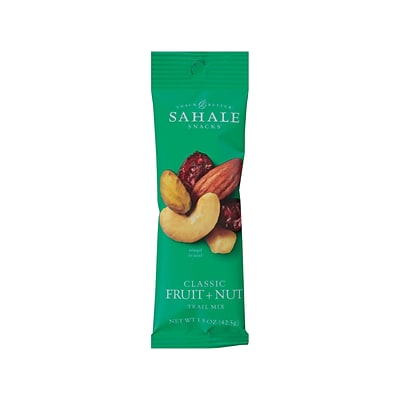 Sahale Snacks Snack Mix, Fruit & Nut, 1.5 Oz., 18/Carton (00222)