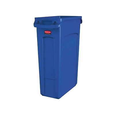 Rubbermaid Commercial Products Slim Jim Resin Recycling Container, 23 Gal., Blue (1956185)